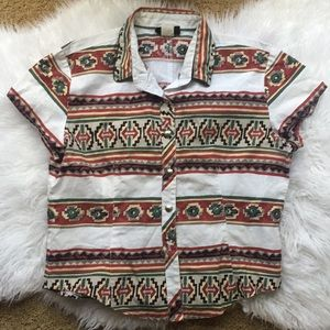 Southwestern Button Down Shirt